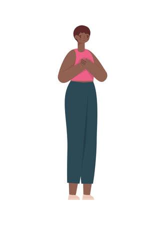 pretty afro woman