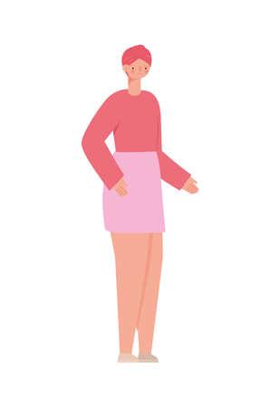 girl with pink turban Çizim