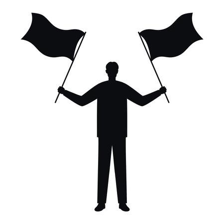 man silhouette illustration