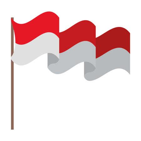 indonesia flag illustration