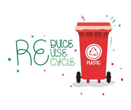 sustainable label illustration