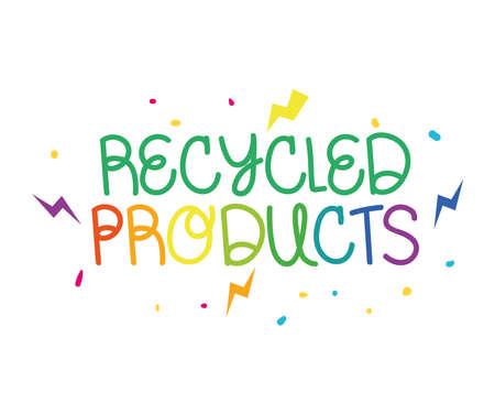 recycled products phrase Çizim