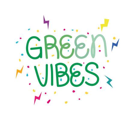 green vibes label Çizim