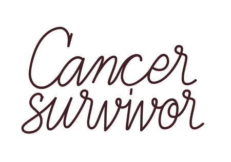 cancer survivor lettering Çizim