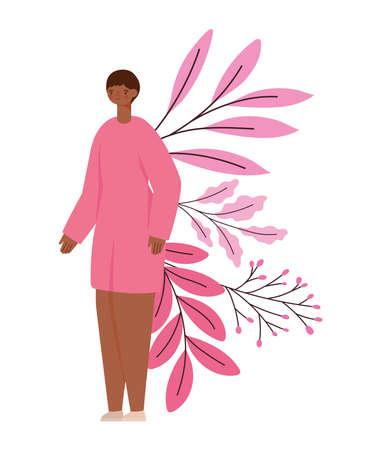 survivor female and leaves