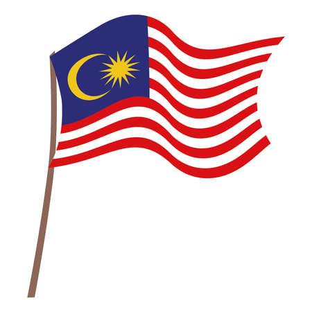 malaysia flag illustration