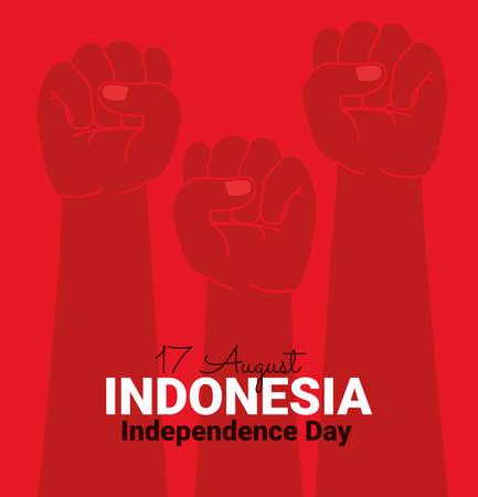 indonesia independence illustration Çizim