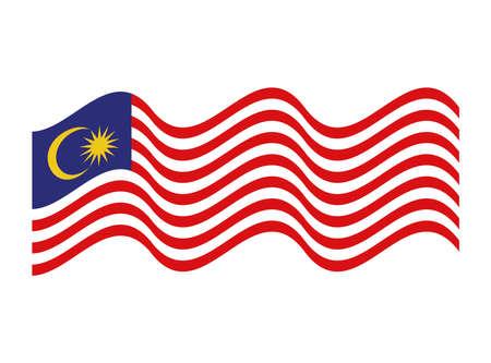 waved malaysia flag