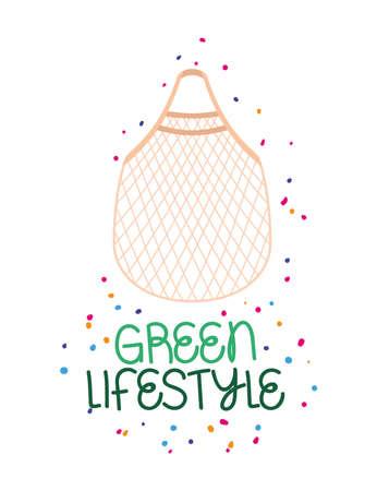 green lifestyle label Çizim