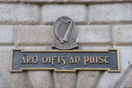 Irish Harp above the General Post Office in Dublin photo