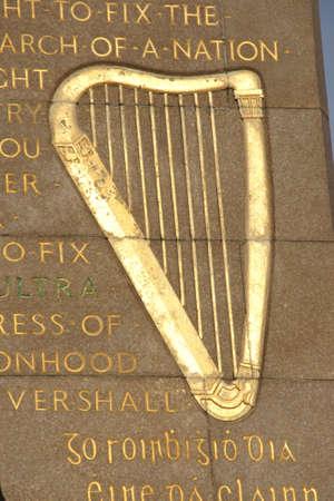Irish Harp as symbol of peace, music and nationalism photo