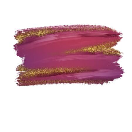 abstract background isolated on white, vibrant brush strokes with glitter