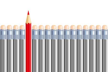 etre diff�rent: Un autre crayon gris dans certains autres. Soyez diff�rent.