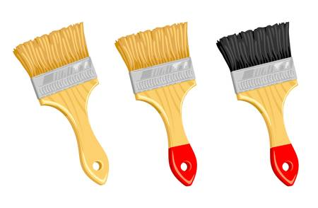 Clean paint brush on white background.