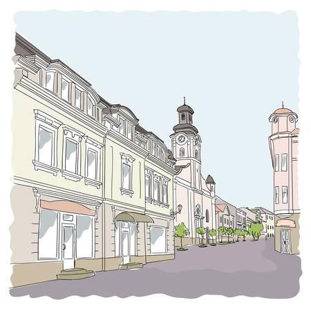 Rue dans la vieille ville.
