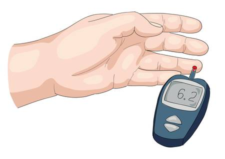 diabetes: Examen de sangre. Vectores