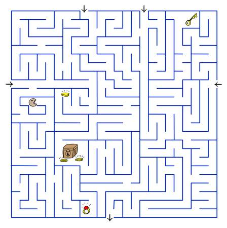 Labyrinth. Vector illustration. Stock Vector - 16450074