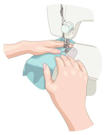 straight pin:  Sewing. Vector illustration.