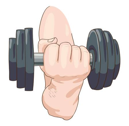 Dumbbell.   Stock Vector - 17096800