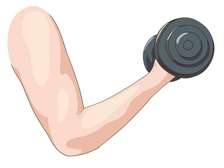 Dumbbell.   Stock Vector - 17096797