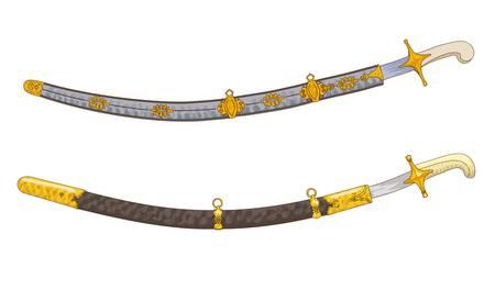Antique swords. Vector illustration. Stock Vector - 17858575