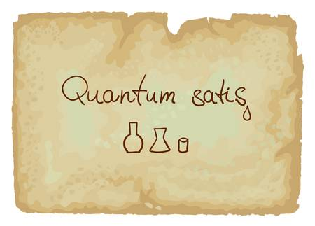 laboratory glass: Quantum satis  abbreviation qs or QS  is a Latin term meaning the amount which is needed Illustration
