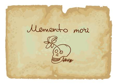 memento: A memento mori is an artistic or symbolic reminder of the inevitability of death