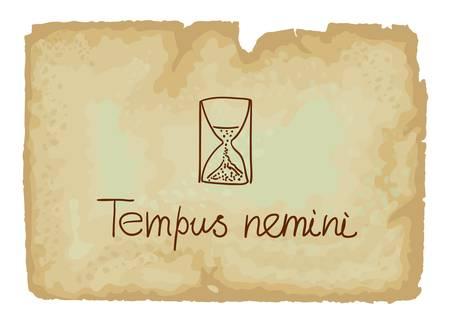 proverbs: Tempus nemini - ime waits for no one  latin phrase