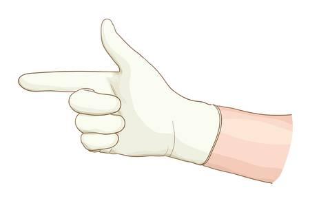 なでる: ラテックス手袋手肛門。ベクトル illustartion。  イラスト・ベクター素材