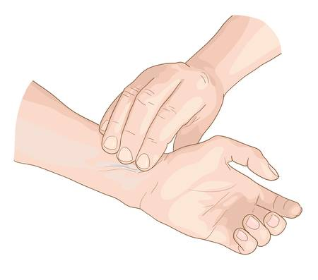 patient: Puls. Vector illustratie. Stock Illustratie