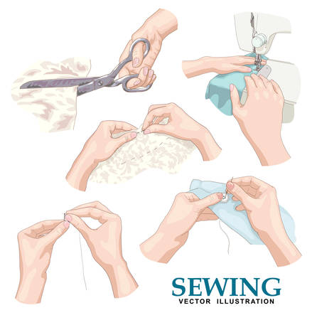 Sewing. Vector set.