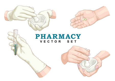 Pharmacy Vector Set. Illustration