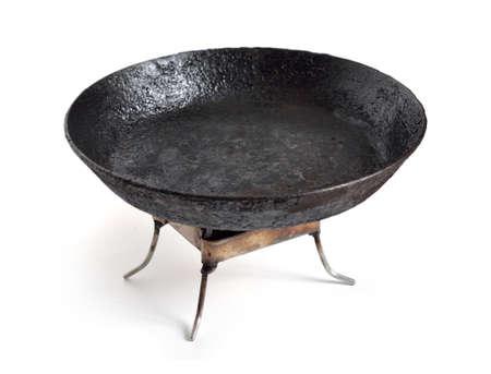 Burner for Hexamine fuel tablet witp Frying pan