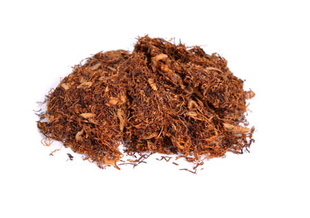 Ready-rubbed tobacco. Isolated on white background.