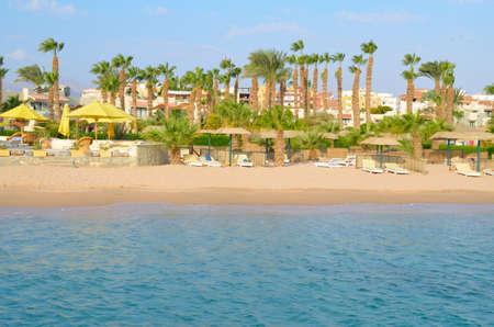 Beautiful Sand Beach in an Egyptian hotel.
