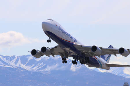 Nippon Cargo Airlines Boeing 747-8F at Anchorage