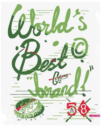 eslogan: Lema fresco de la tipografía impresionante, gráficos de la camiseta, los vectores