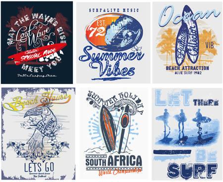 Tipografía deporte de surf, gráficos de la camiseta, los vectores Foto de archivo - 61496154