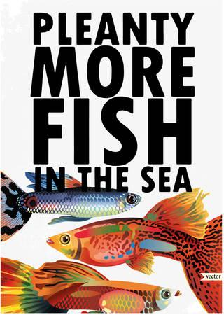 crucian: fish of ocean Illustration