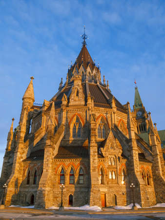 오타와, 캐나다 의회 도서관의 역사적 건물