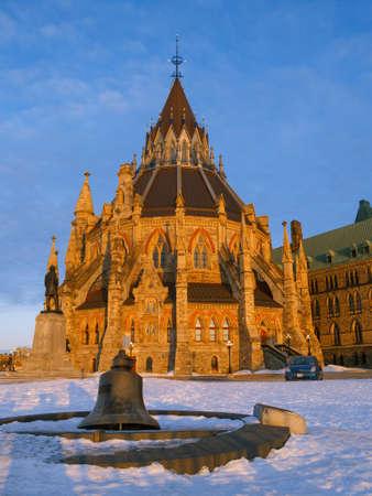오타와, 캐나다에있는 의회 도서관의 역사적인 건물