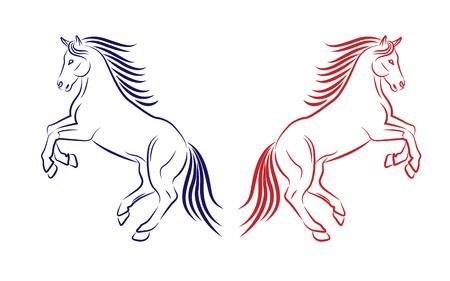 horse emblem on white background Illustration