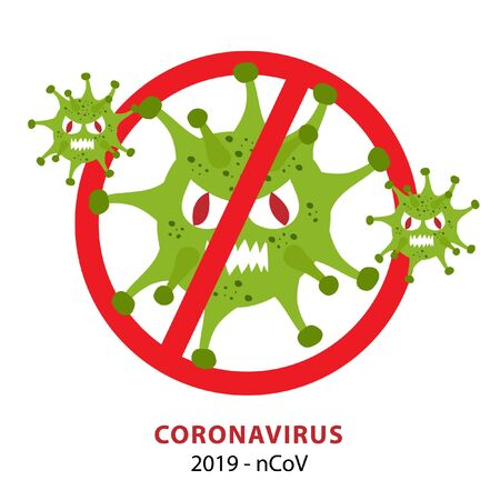 Stop COVID-19 or Coronavirus 2020 infographic. nCov 2020 Ilustração