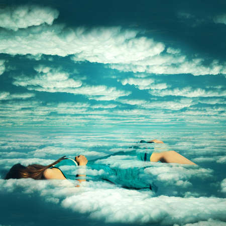surreal: Dreaming Stock Photo