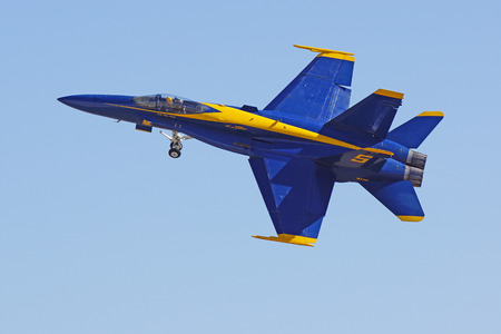 mach 1: Miramar, California,USA- October 3,2014. Blue Angels perform at 2014 Miramar Airshow