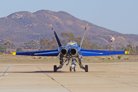 f18: Blue Angels F-18 Hornet at 2014 Miramar Airshow Editorial
