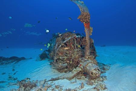 Underwater Corsair Airplane Wreck