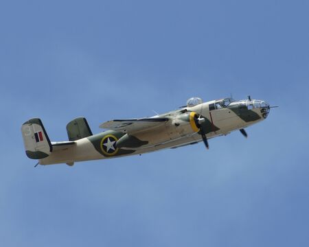 air show: WWII B-25 Bomber Airplane performs at 2013 TICO Air Show Editorial