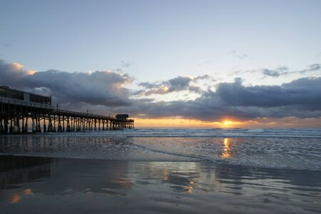 the east coast: Sunrise at East Coast pier