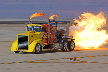 torque: Jet Truck performs at 2015 Yuma Air Show
